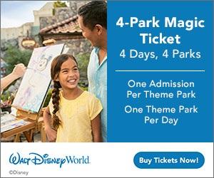 Disney 4 Park Magic Tickets