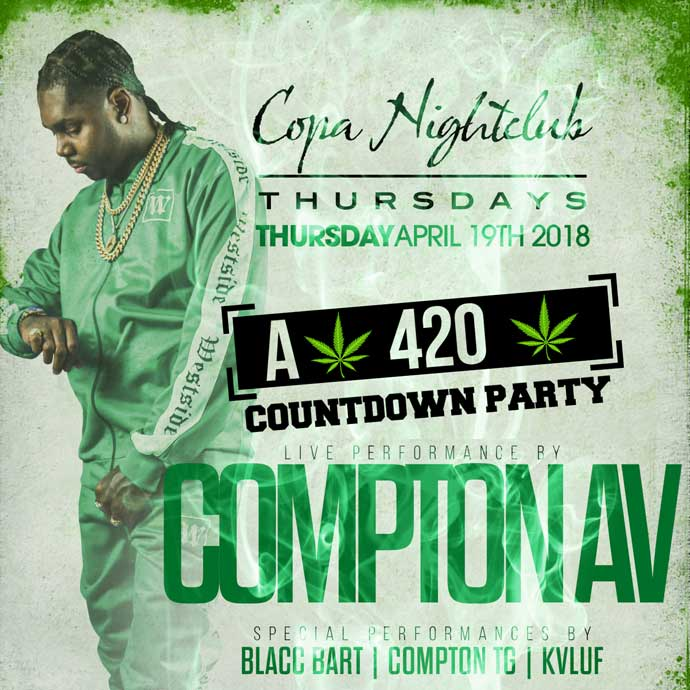 COPA NIGHT CLUB presents: A 420 Countdown Party