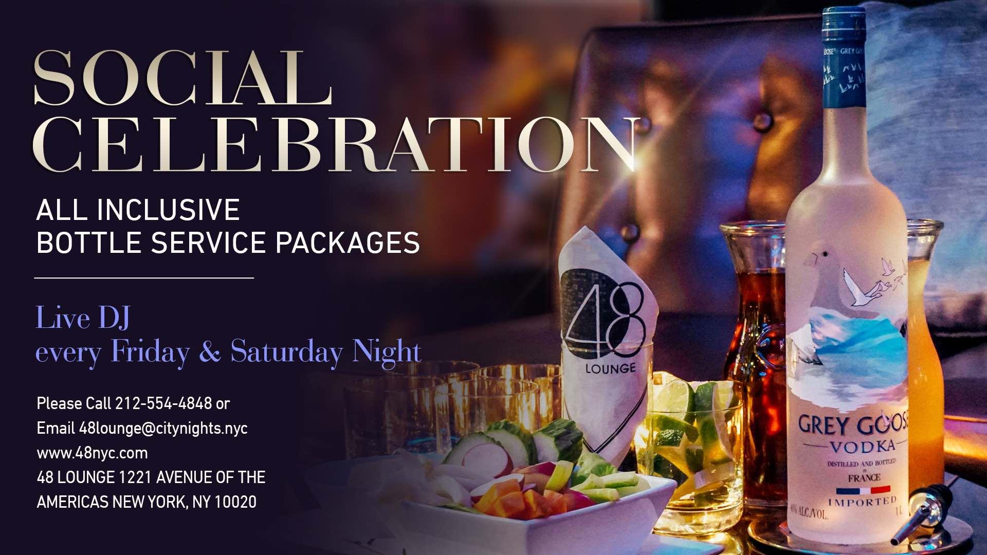 Social Celebration Bottle Service
