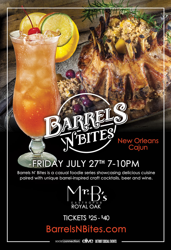 Barrels N Bites - Cajun - Royal Oak 7.27.18