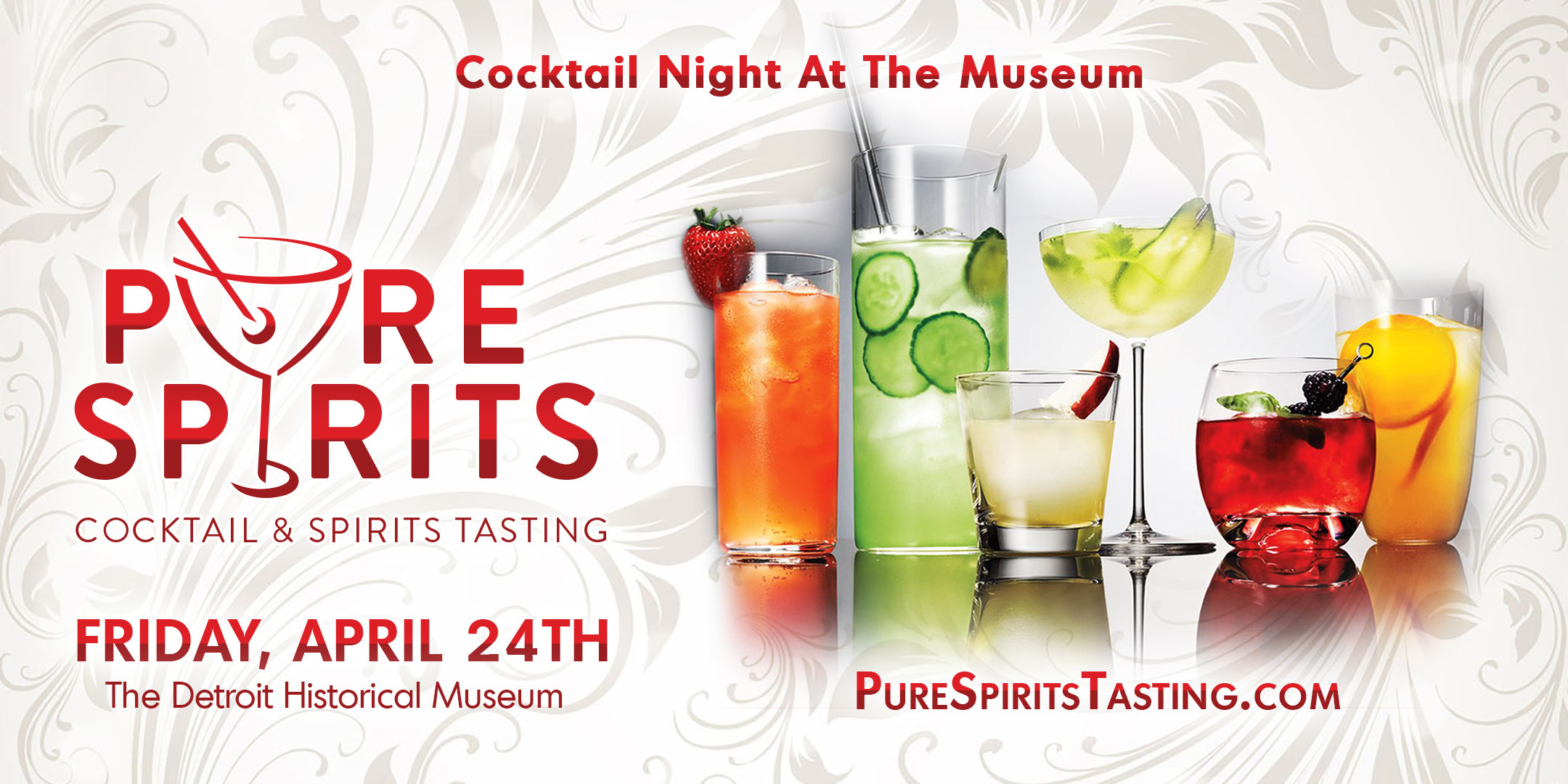 Cocktail Night at the Museum Pure Spirits Tasting Detroit - 2020