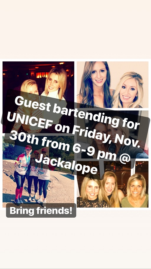 Guest/Bday Bartending for UNICEF
