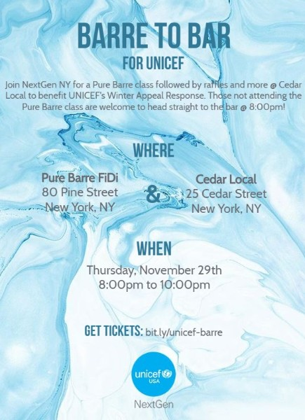 Barre to Bar for UNICEF