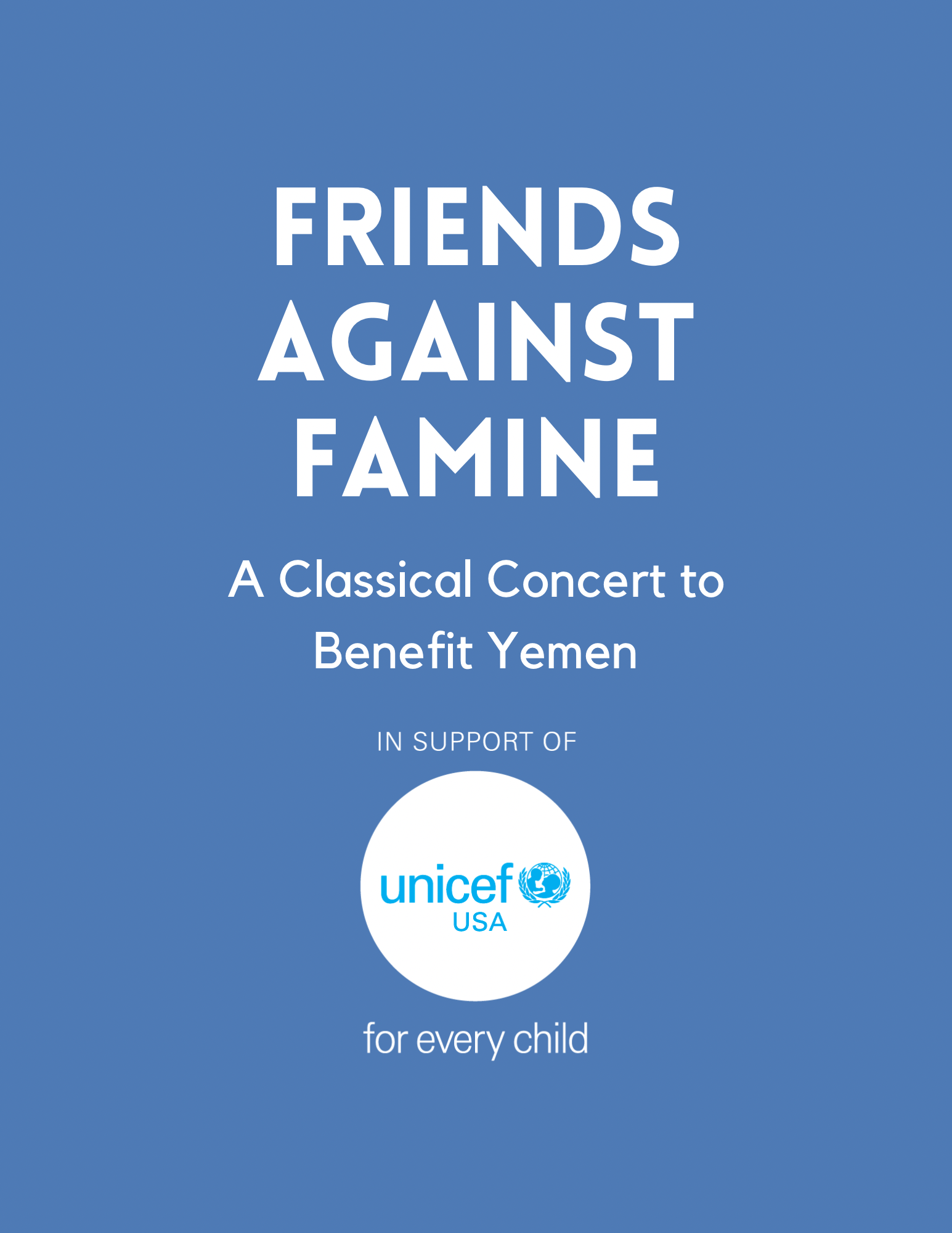 Friends Against Famine: A Classical Concert