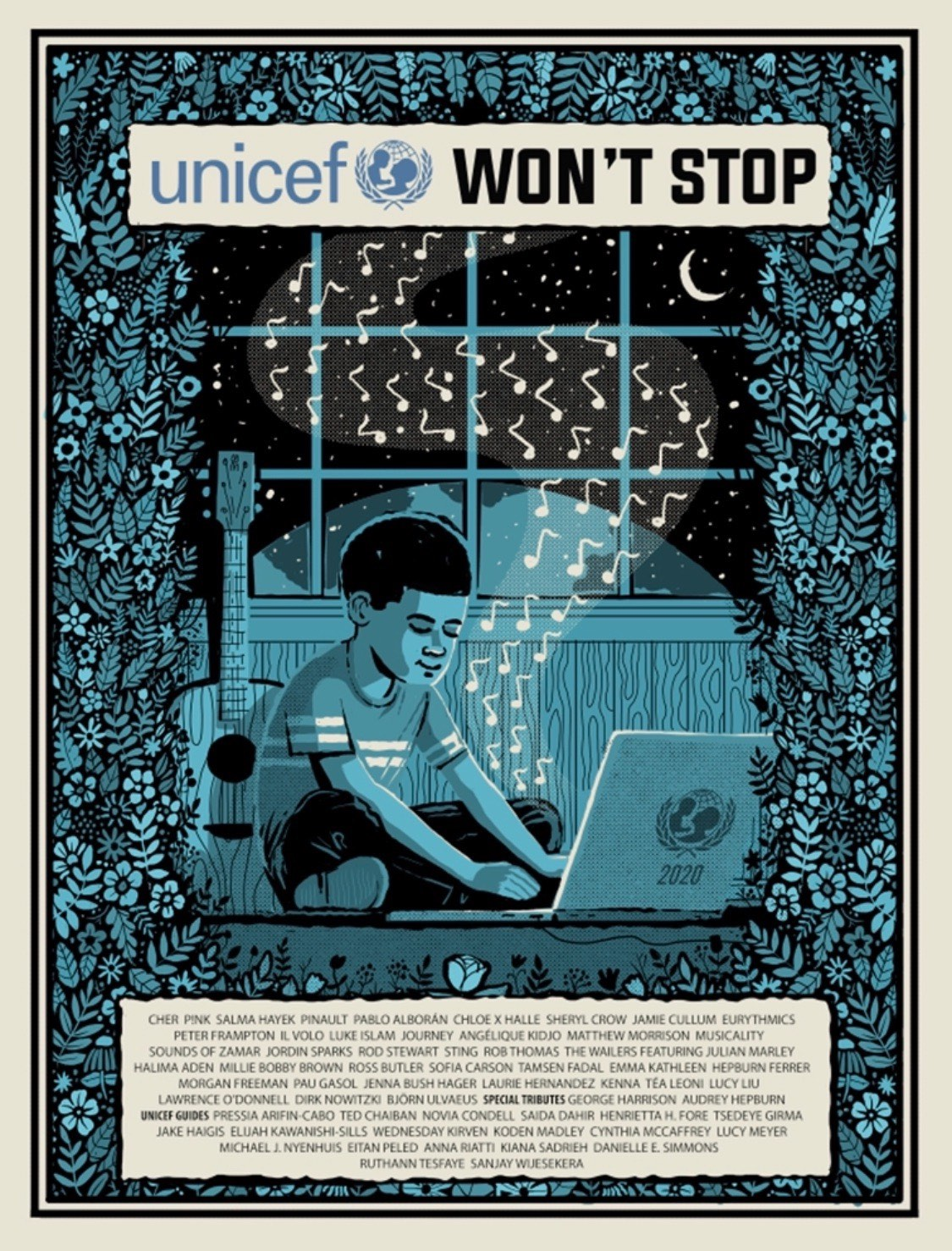 UNICEF Won't Stop Poster