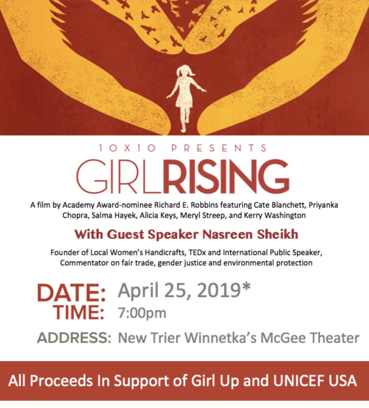 Girl Rising Film Screening with Guest Speaker Nasreen Sheikh