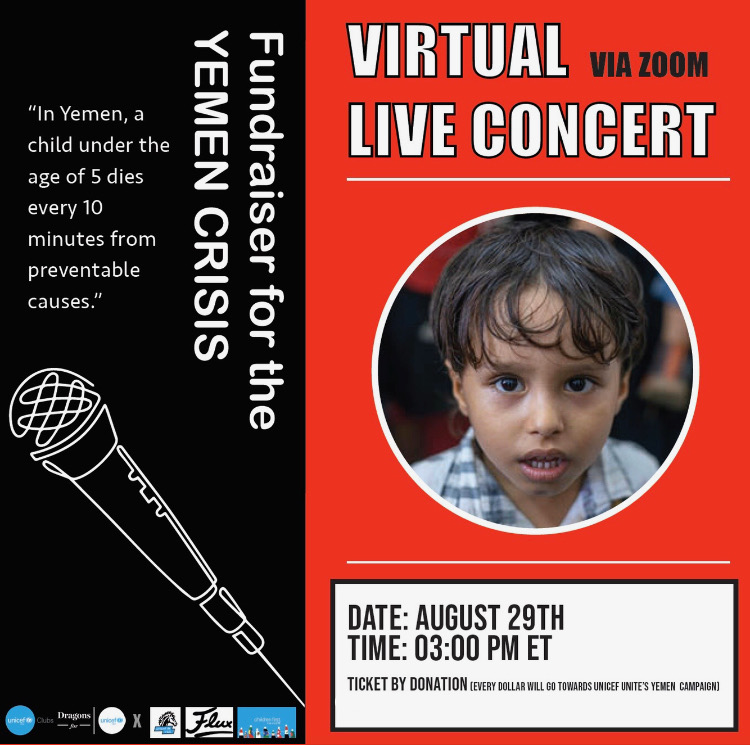 Virtual Live Concert Fundraiser for the Yemen Crisis