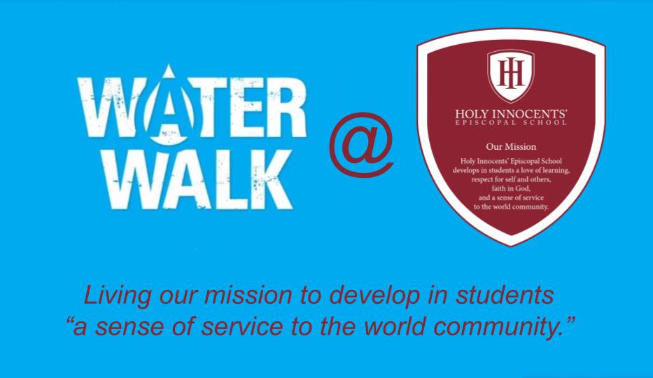 HIES Lower School Water Walk