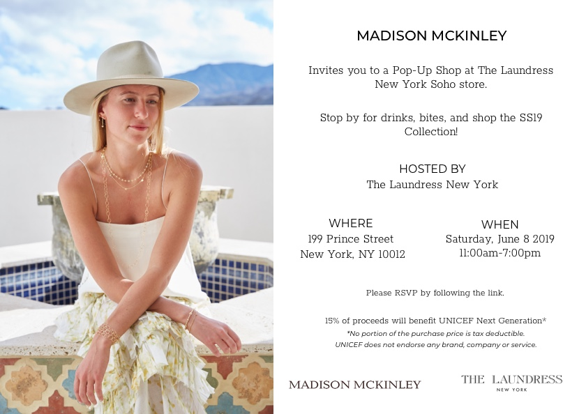Madison McKinley NYC Pop-Up Shop