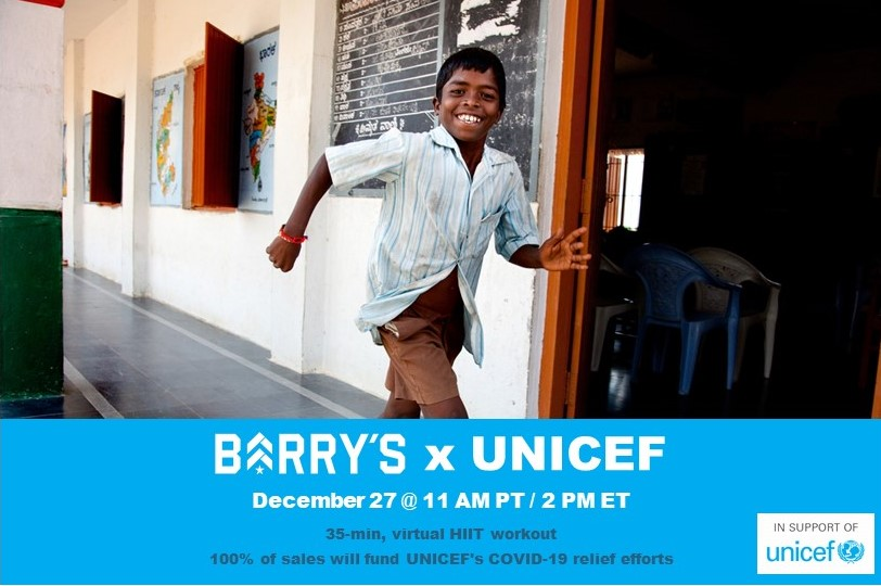 Barry's and UNICEF for Covid Relief