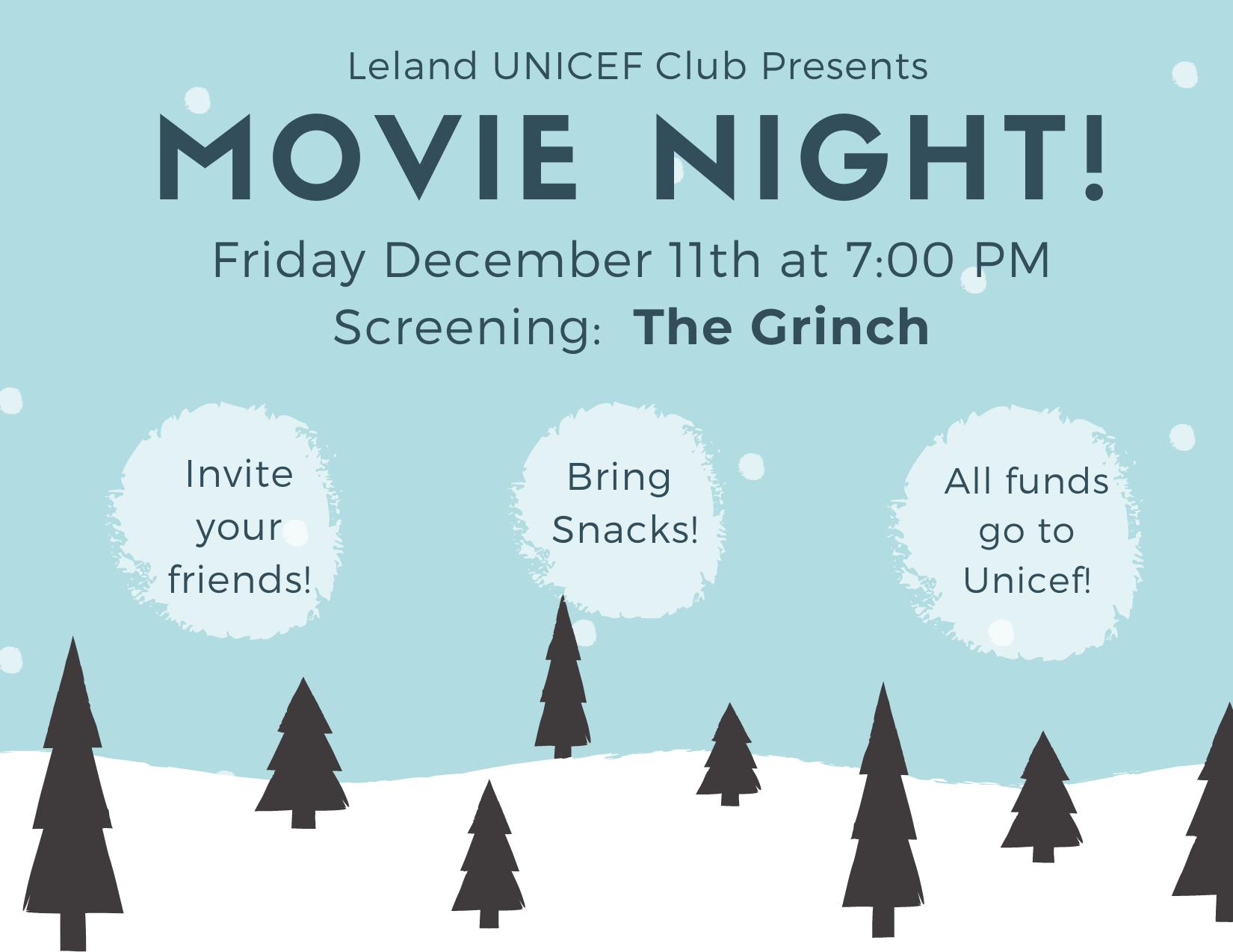 Leland Unicef Movie Night!