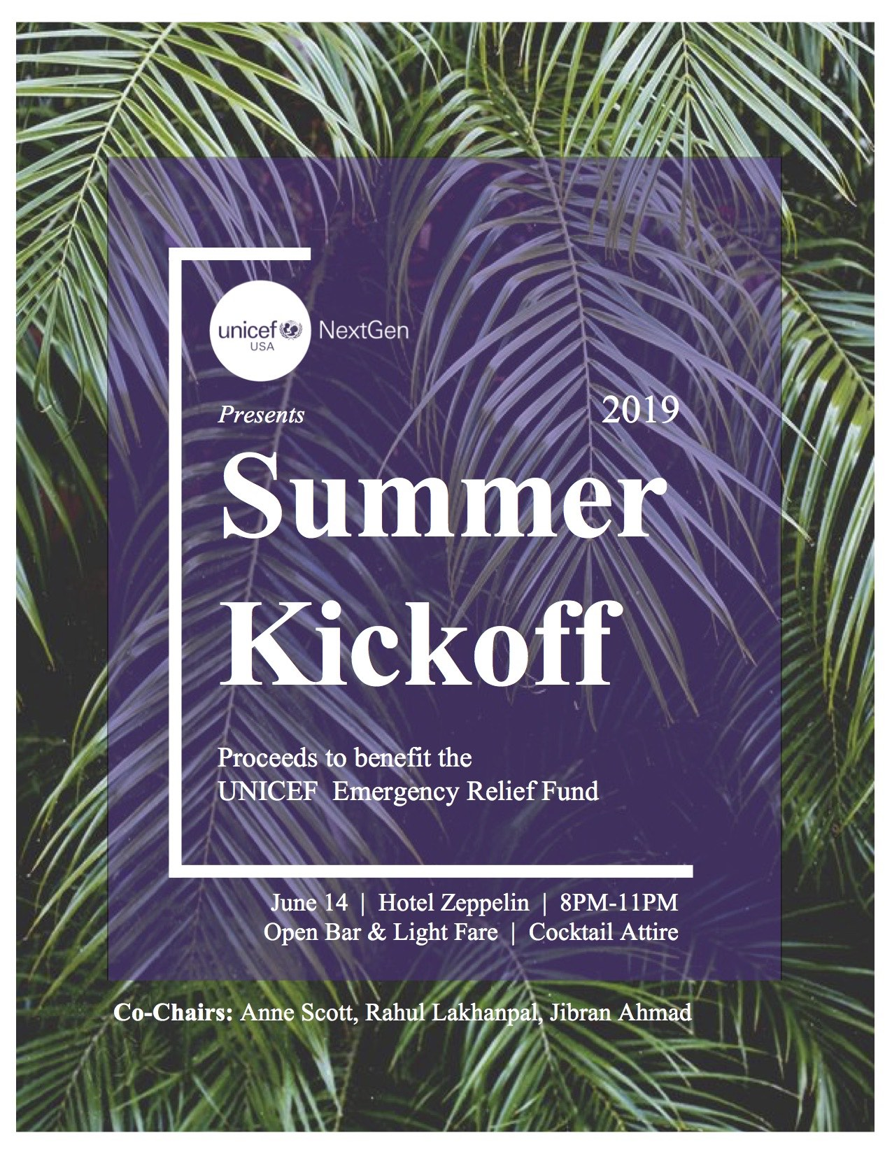 Summer Kickoff:  An Evening to Support UNICEF