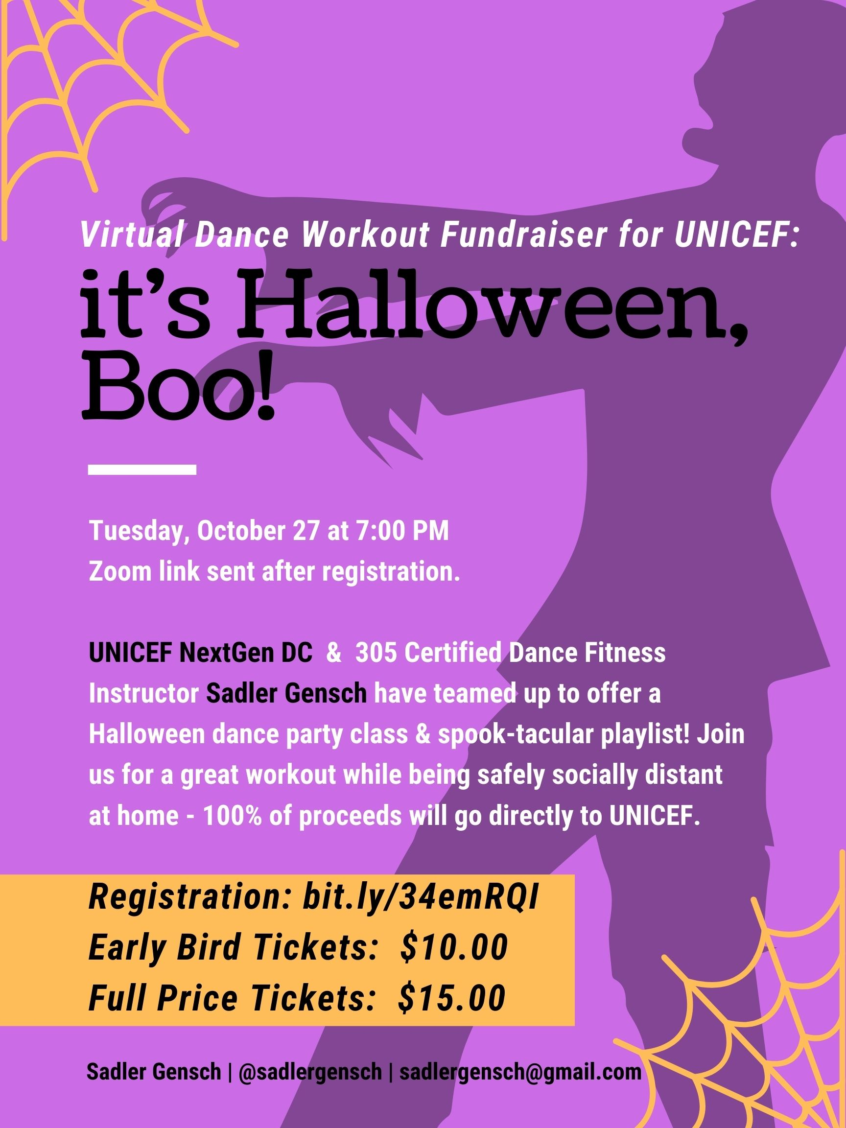 It's Halloween, Boo: UNICEF's Virtual Dance Workout Fundraiser