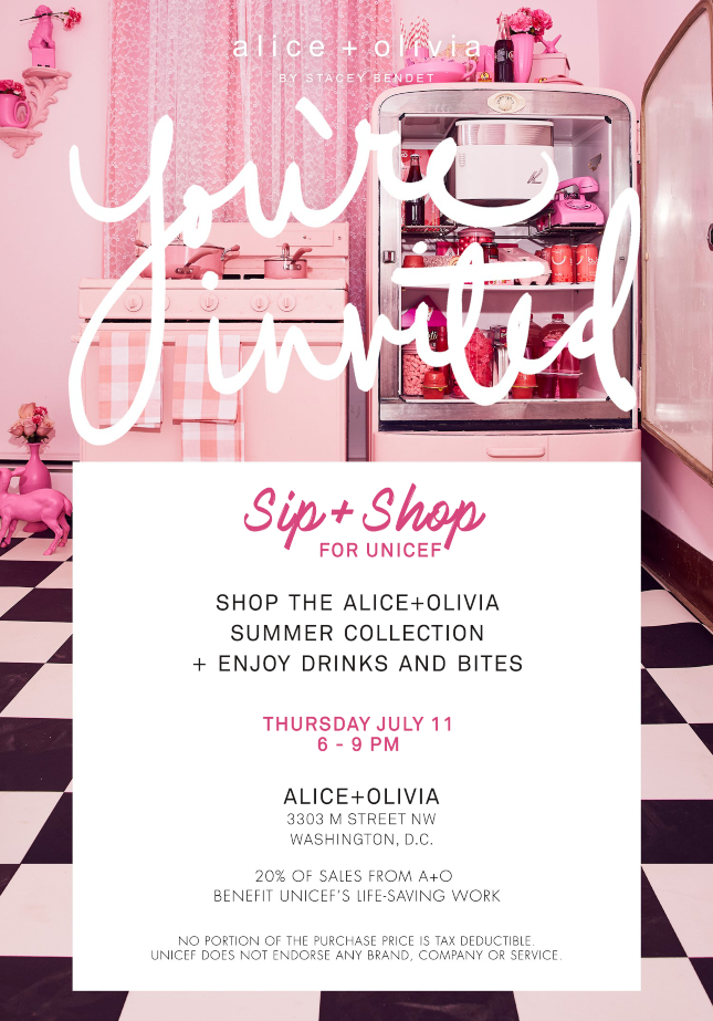 Alice + Olivia: Sip & Shop for UNICEF