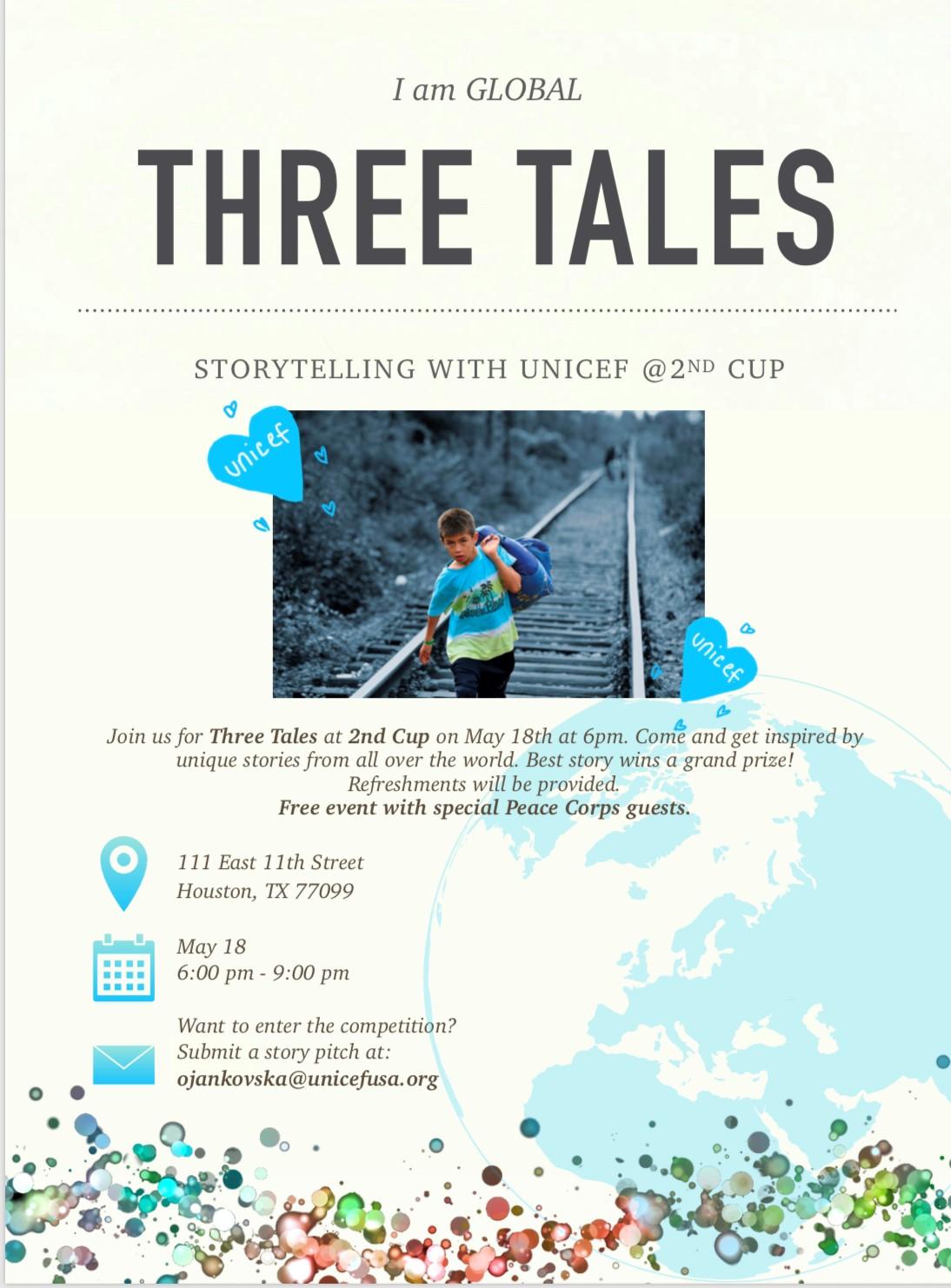 UNICEF UNITE Three Tales - An Evening of Storytelling