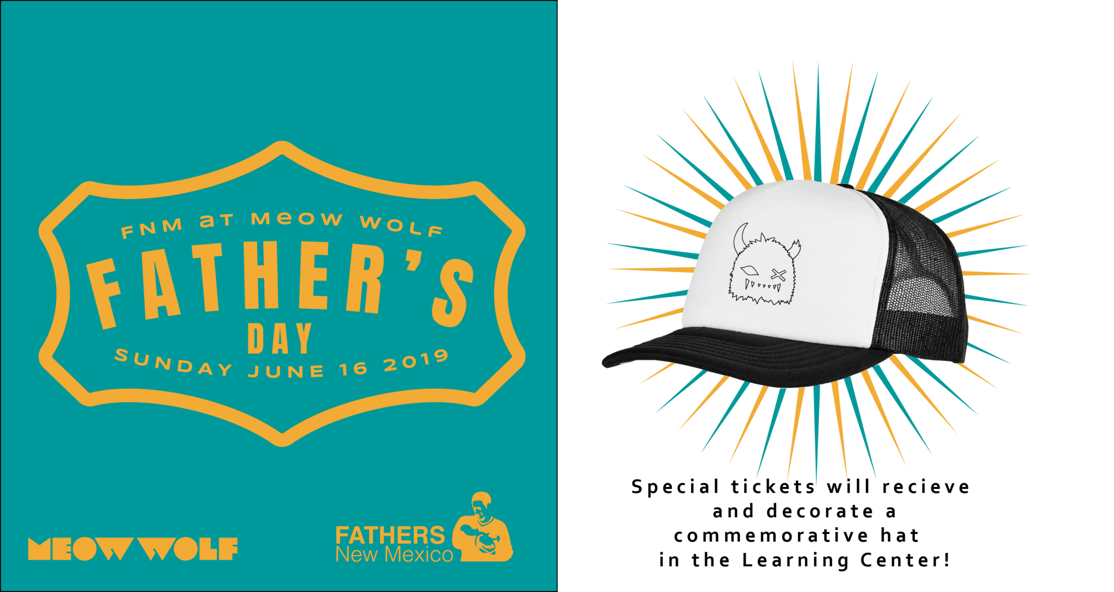 Fundraiser Snaggy Hat Workshop - Father's New Mexico at Meow Wolf 2019