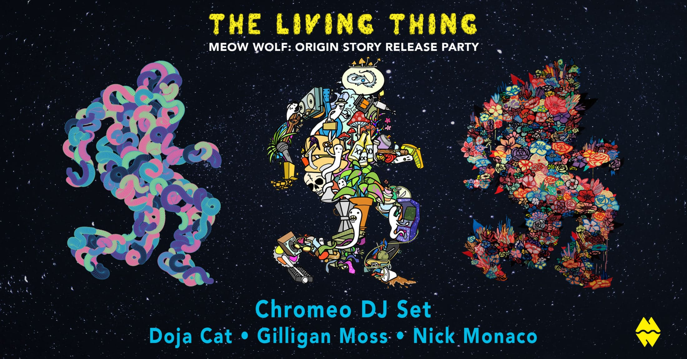 The Living Thing - Meow Wolf: Origin Story Release Party