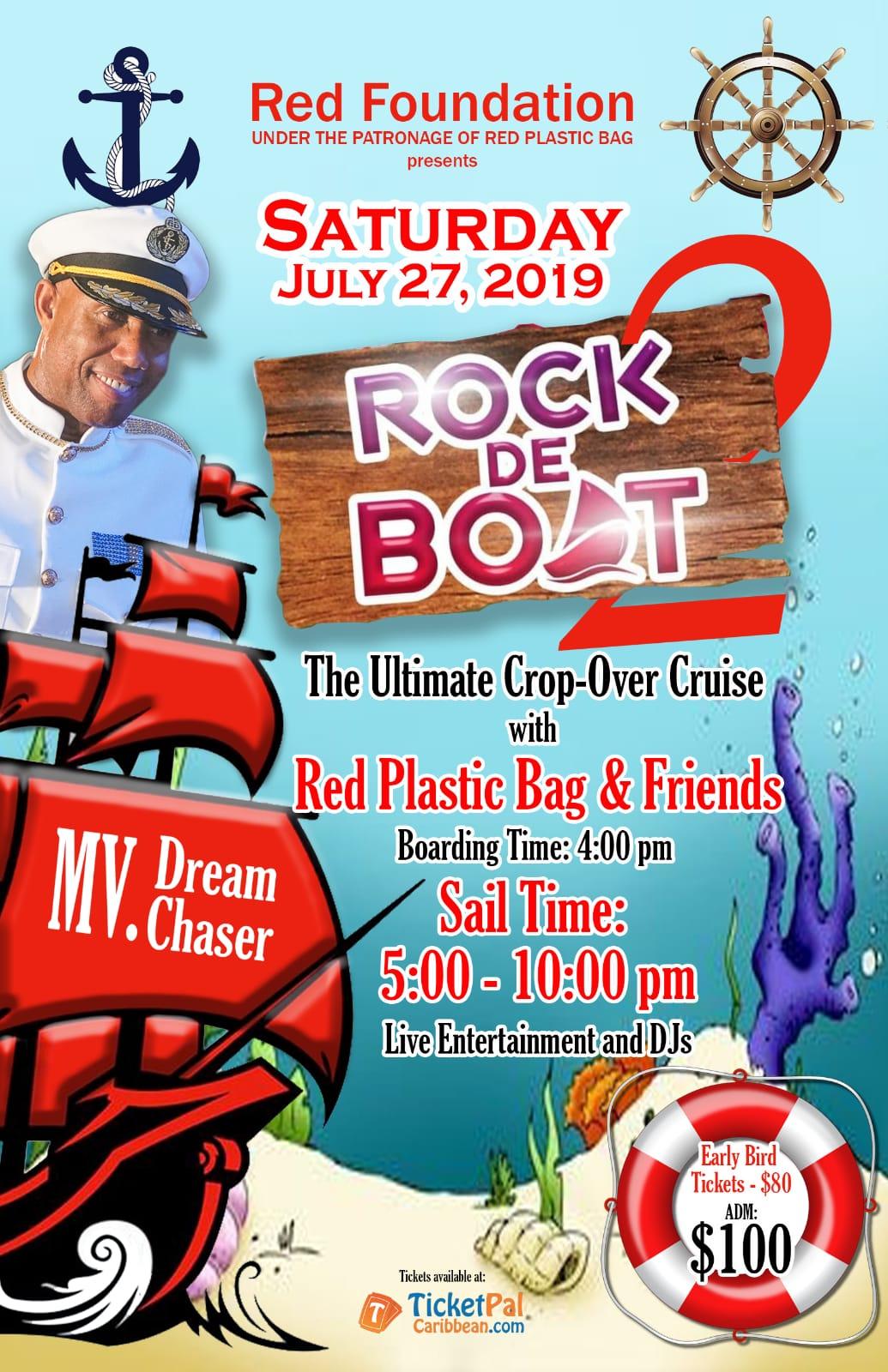 Rock de boat 2 - Red Plastic Bag