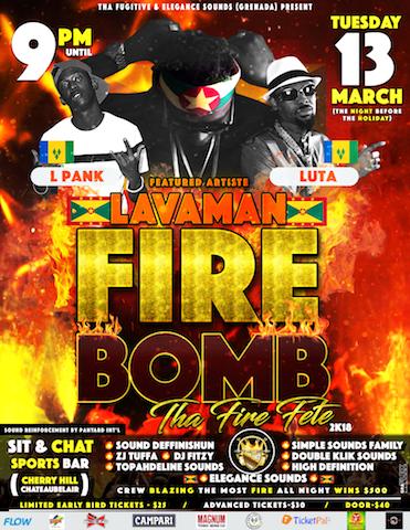 FIRE BOMB - THA FIRE FETE