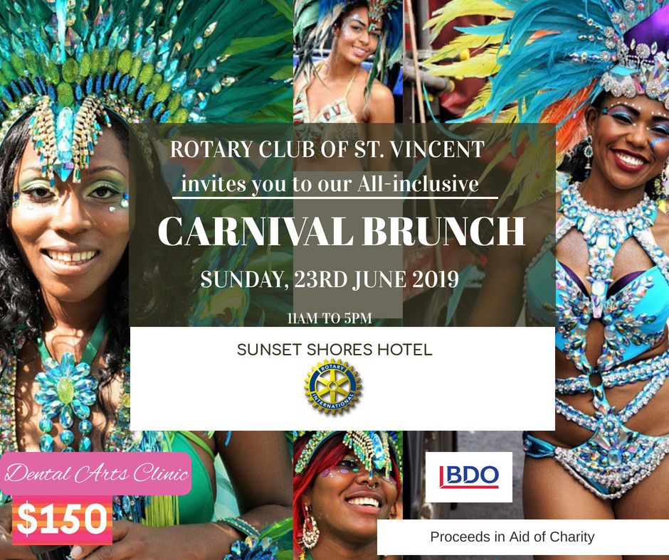 Rotary Club of St. Vincent All-Inclusive Carnival Brunch