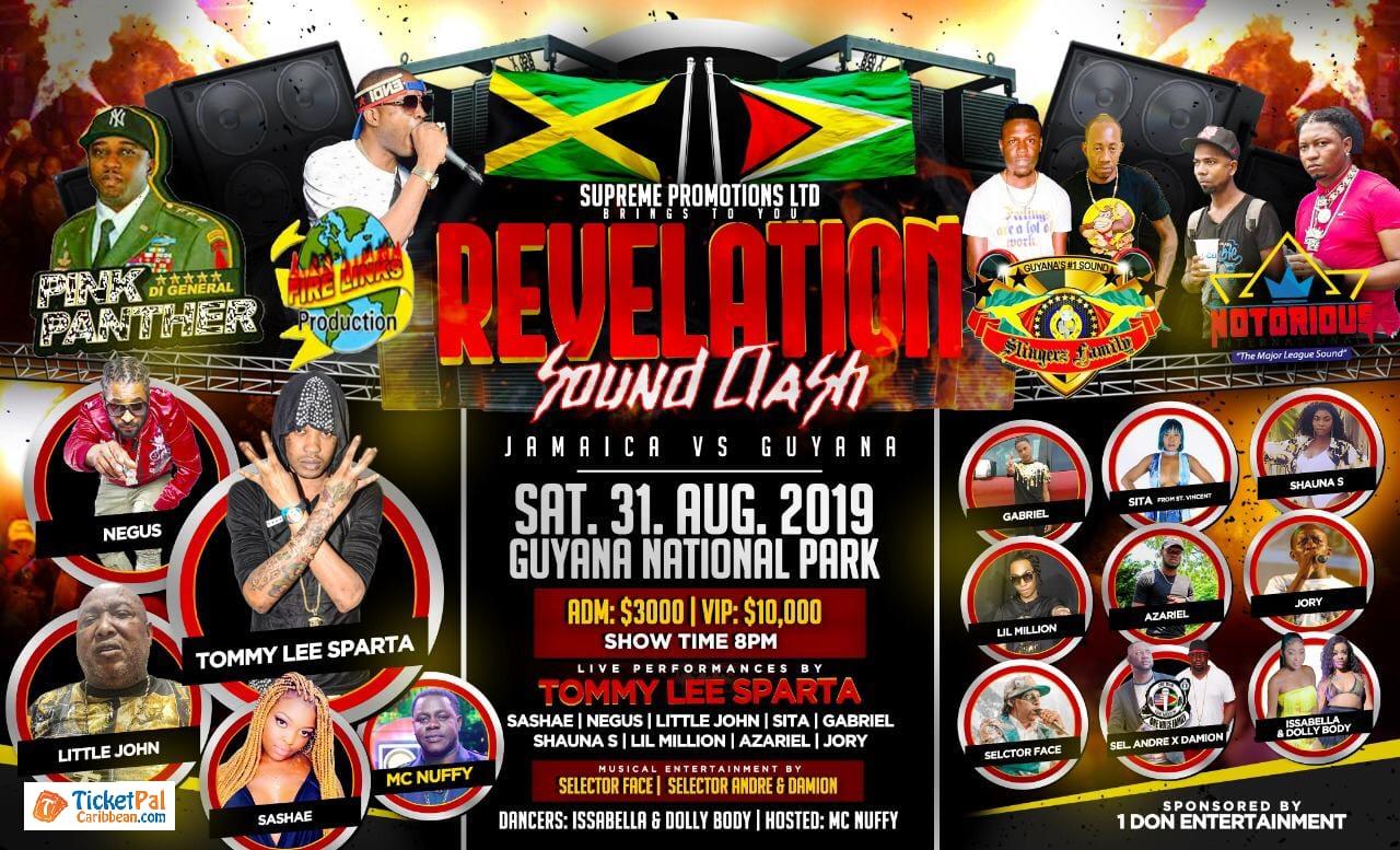 Revelation Sound Clash-National Park- Guyana