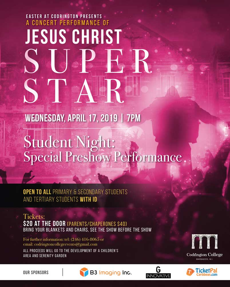 Easter at Codrington: Jesus Christ Superstar in Concert - Student Show