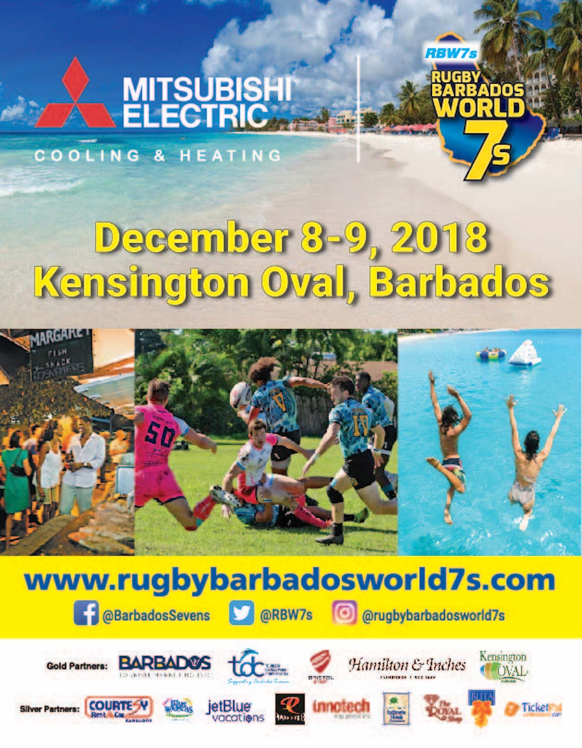 Mitsubishi Electric Rugby Barbados World 7s - Power X 4 Party Stand - Day 1
