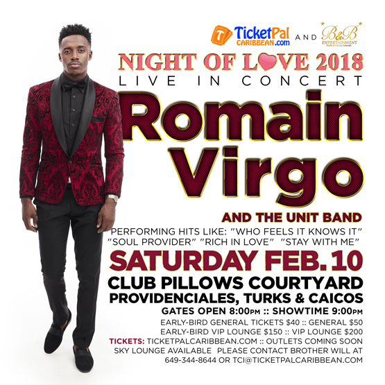 Ticketpal Caribbean Inc  - Night of Love 2018 - ROMAIN VIRGO