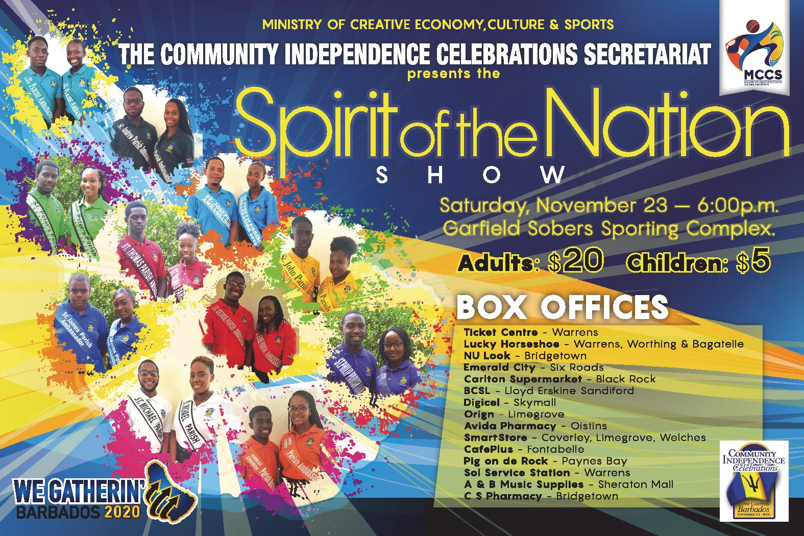 Spirit of the Nation Show 2019