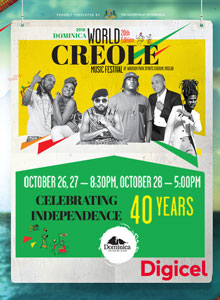 Dominica World Creole Music Festival 2018 -Day1 First In Line