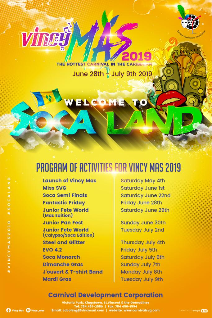 Vincy Mas 2019 - Junior Fete World (Calypso/Soca)