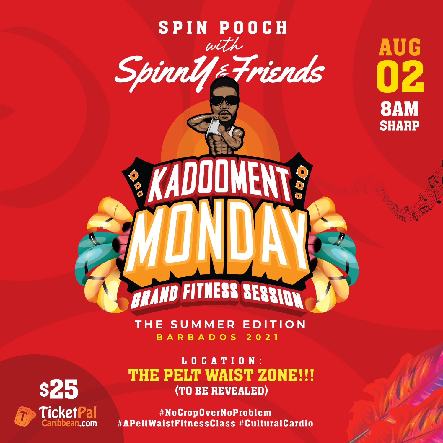 Spin Pooch with Spinny & Friends - Kadooment Monday Grand Fitness Session