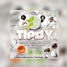Tipsy All White Beach Party