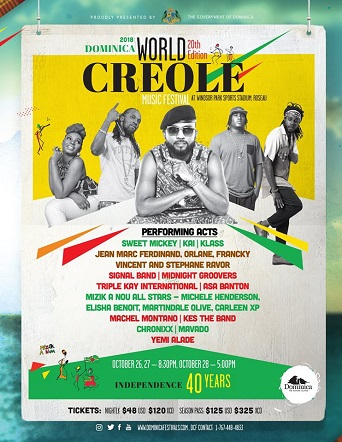 Dominica World Creole Music Festival 2018-Day2 First In Line