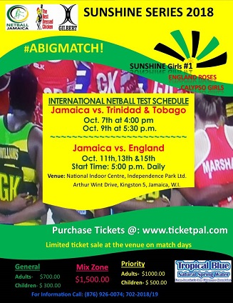 Sunshine Series 2018 - Jamaica Vs England