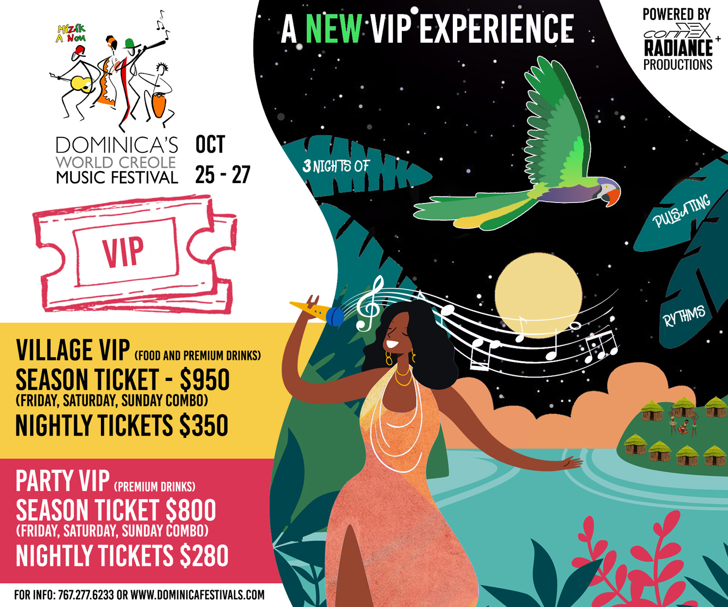 Party VIP - SEASON PASS (World Creole Music Festival 2019)