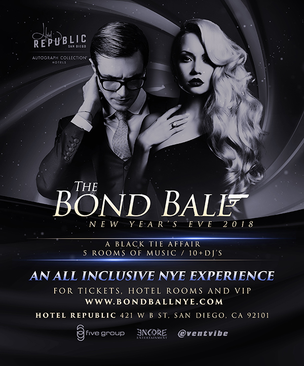 The Bond Ball, San Diego New Years Eve 2018 downtown