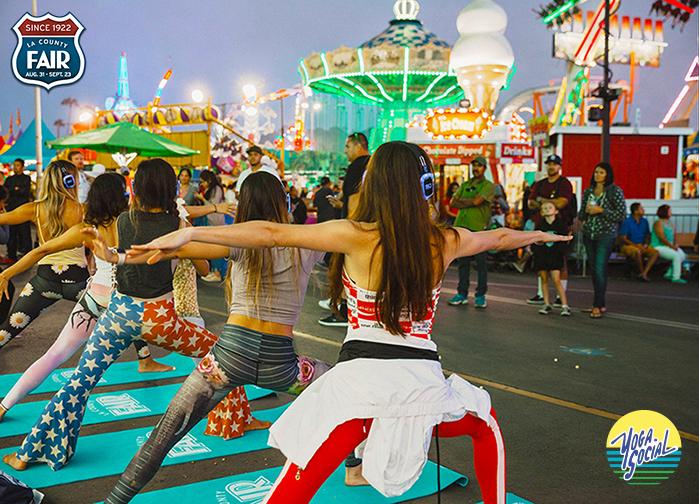 Yoga Social Day at the LA County Fair
