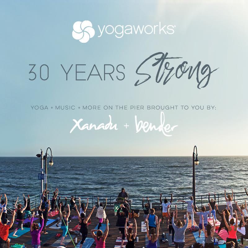 Yoga Social YogaWorks 30th Anniversary Party