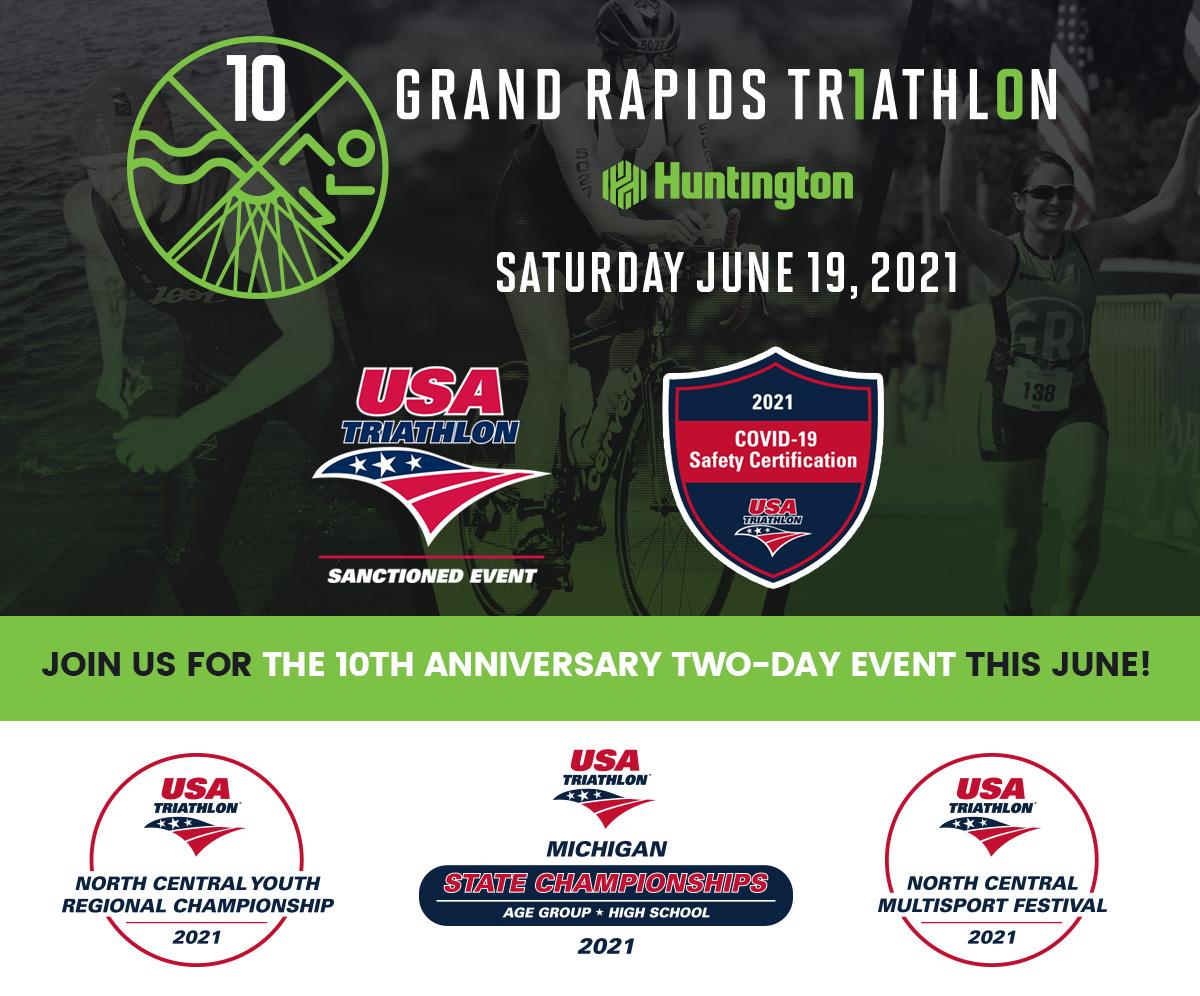 Grand Rapids Triathlon - Saturday, June 19th, 2021