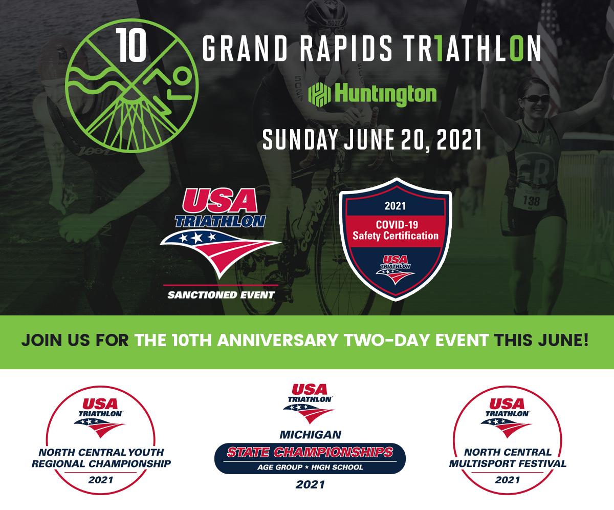 Grand Rapids Triathlon - Sunday, June 20th, 2021