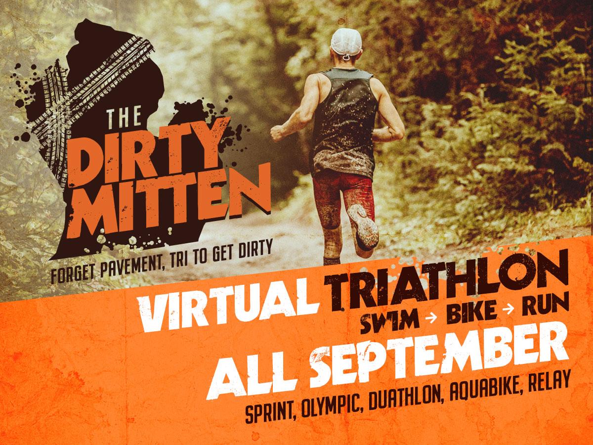 The Dirty Mitten Virtual Gravel Triathlon