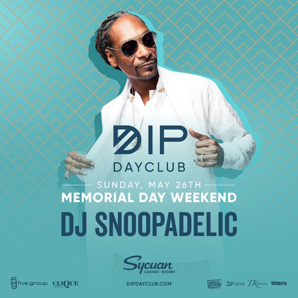 Sunday May 26th of Memorial Day weekend w/ DJ SNOOPADELIC