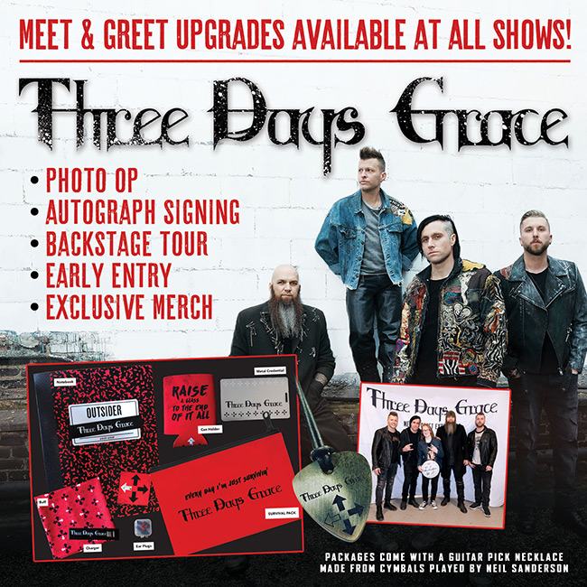 Three Days Grace VIP Upgrade - Worcester, MA
