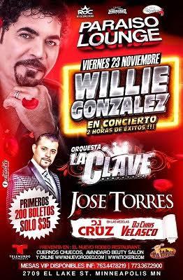 Willie Gonzalez y Orquesta La Clave!
