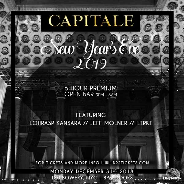 NYE 2019 At Capitale – 6 Hour Open Bar