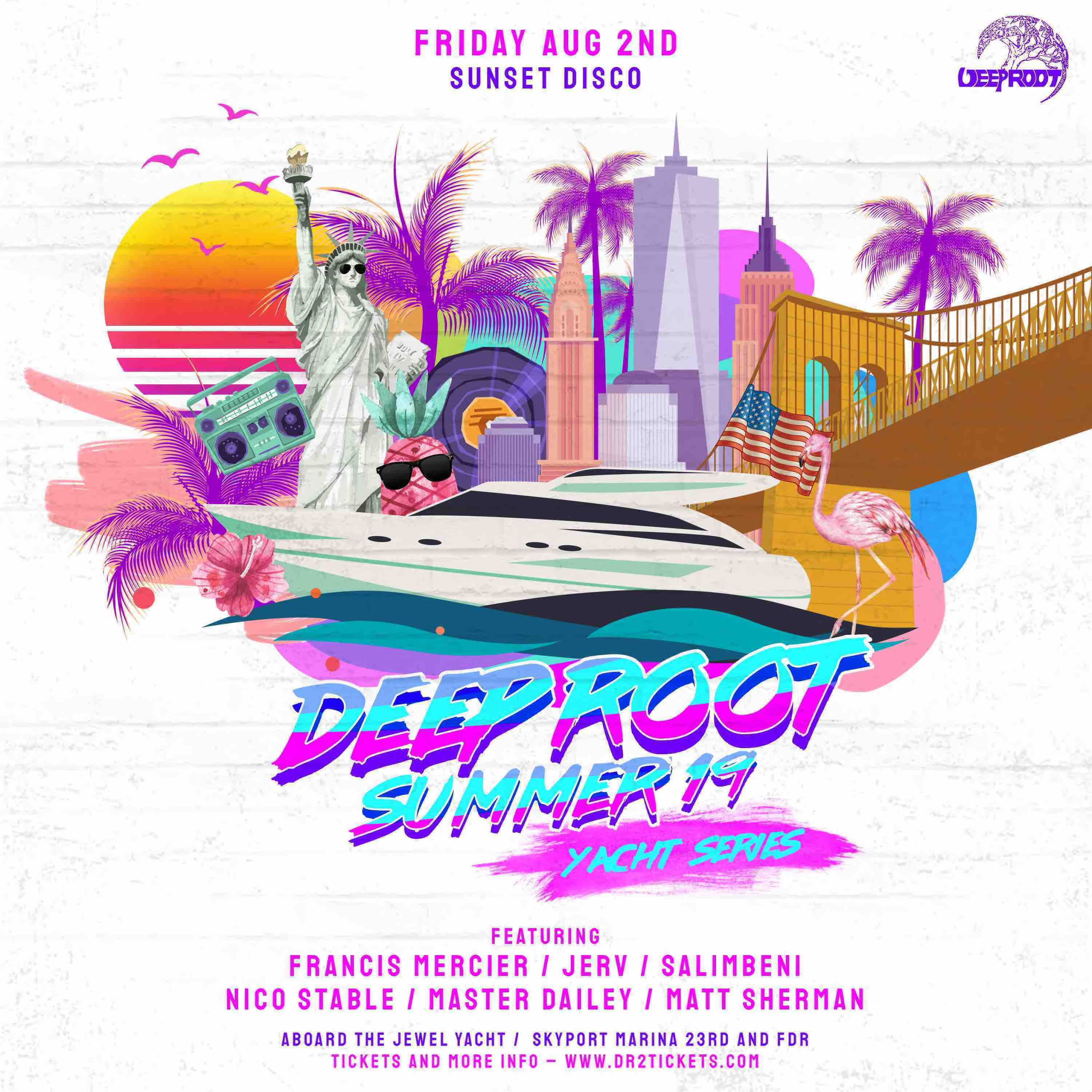The Deep Root Yacht: Sunset Disco Party