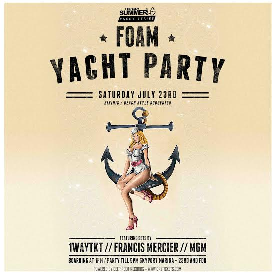Foam Yacht Party – Cruise Around NYC