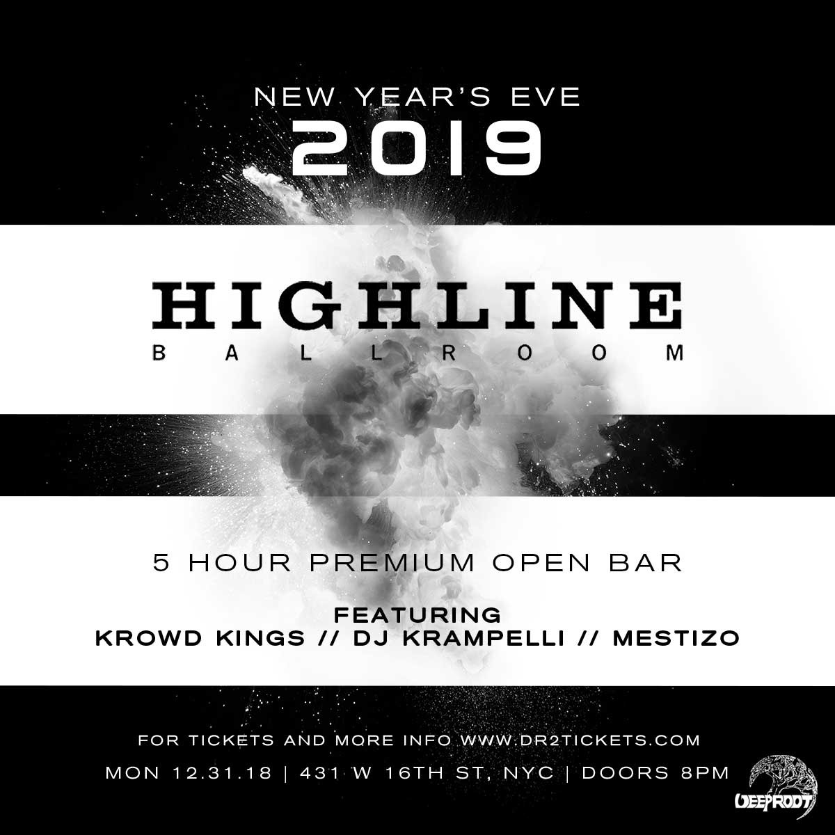 NYE 2019 At Highline Ballroom – 5 Hour Open Bar