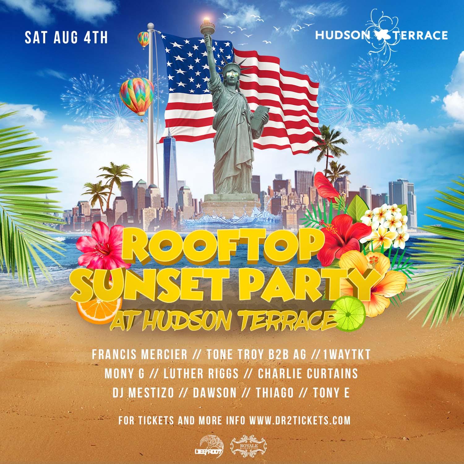 Sunset Rooftop Party At Hudson Terrace Including 1 Hour Champagne Open Bar